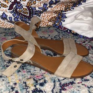 Franco Sarto Suede Sandal Flat- 11M